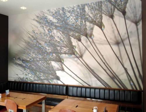 Murali print foto zidnih tapeta i postavljanje na zid